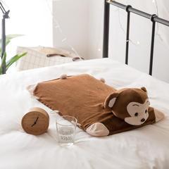 境月卡通造型1乳胶枕40*40*7cm/只 卡通乳胶枕猴子