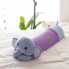 境月卡通造型2乳胶抱枕 15*62cm 卡通抱枕蓝紫大象