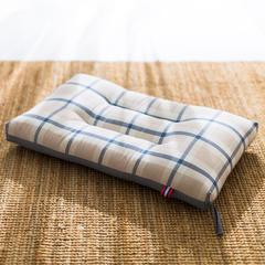境月水洗棉水洗枕48x74cm/只 水洗枕(蓝细条格)