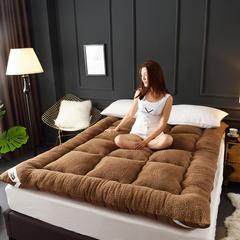 席洋洋家纺爆款羊羔绒床垫 200*220cm 咖啡色