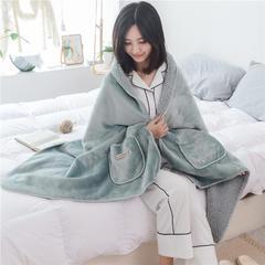 时尚多功能 懒人毯 60*170 懒人毯-墨绿