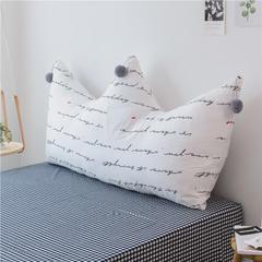 印加绣 极简 单品系列--单大靠背 1.2m 英文皇冠枕 小心情