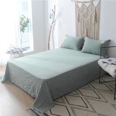水洗棉毛巾绣单品系列--单床单 245*250cm 向阳花-绿