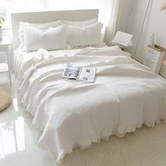 多功能夹棉水洗棉床盖三件套 床盖2.25cmx2.35cm 白
