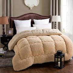 羊羔绒冬被 180*220cm 驼色