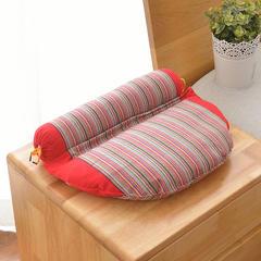 老粗布组合枕(36*28) 大红色