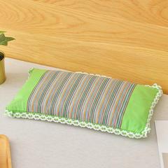 粗布荞麦颈椎枕(43*23) 翠绿色