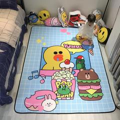 婴童用品 儿童卡通加厚复合地垫 50X80cm 美食节