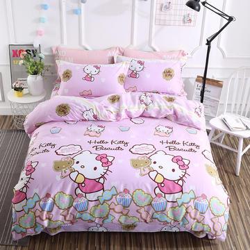 婴童用品 儿童全棉四件套 1.2m(4英尺)床三件套 可爱KT