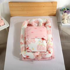 2018新款A类全脱卸床中床二件套 三件套 55*95二件套 火烈鸟 粉