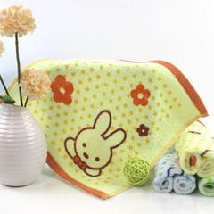 赠品大世界全棉印花方巾28*28cm 黄色