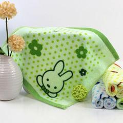 赠品大世界全棉印花方巾28*28cm 绿色