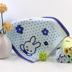 赠品大世界全棉印花方巾28*28cm 蓝色