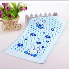 赠品大世界全棉印花童巾25*50cm 蓝色
