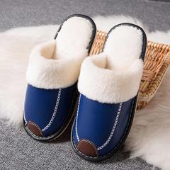 2018新款-时尚防水防滑长绒毛厚底拖鞋(总) 男款42/双 男款蓝