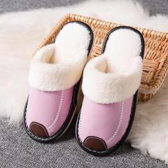 2018新款-时尚防水防滑长绒毛厚底拖鞋(总) 女款40/双 女款粉红