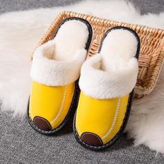 2018新款-时尚防水防滑长绒毛厚底拖鞋(总) 女款37/双 女款黄