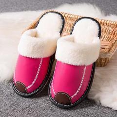 2018新款-时尚防水防滑长绒毛厚底拖鞋(总) 女款38/双 女款玫红