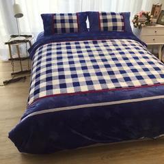 北欧风宝宝绒双拼四件套 2.0m(6.6英尺)床 锦瑟年华
