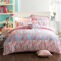 新 牛奶绒9D雕花四件套 2.0m(6.6英尺)床 2爱的立方