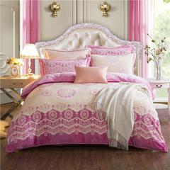 新 牛奶绒9D雕花四件套 2.0m(6.6英尺)床 11浪漫樱花