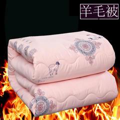 圣卓家纺 斜纹防羽布加厚 羊毛被 不钻毛无异味冬被被芯 150x200cm4斤 玉色