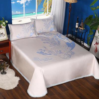 600D可水洗床单款 2.5m*2.5m 16802-丹凤朝阳-蓝