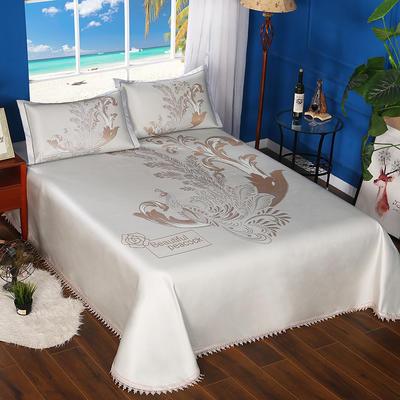 600D可水洗床单款 2.5m*2.5m 16802-丹凤朝阳-银金