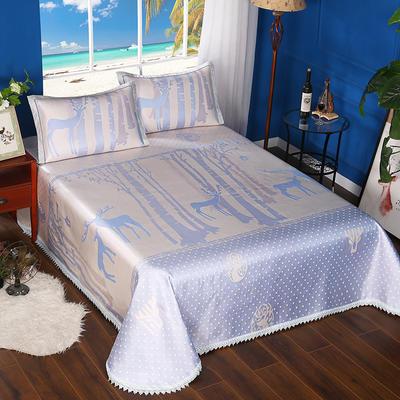 600D可水洗床单款 2.5m*2.5m 16804-魔幻森林-蓝