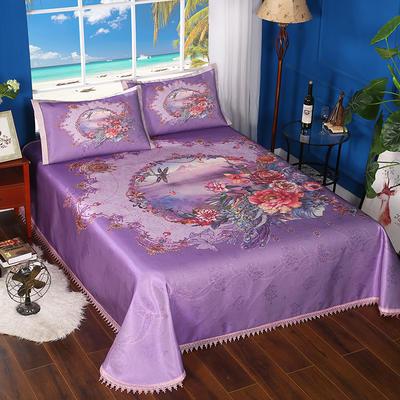 600D可水洗印花床单款 2.5m*2.5m 168011-霓裳花舞-紫