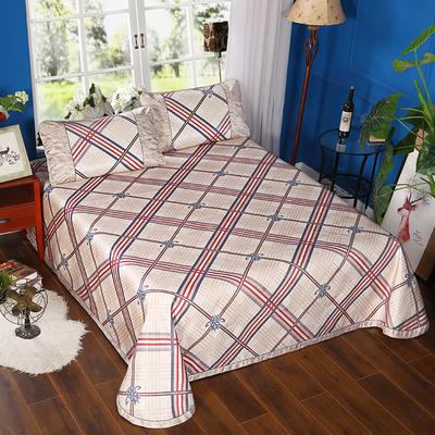 600D可水洗印花床单款 2.5m*2.5m 168012-悠然格调-石榴红