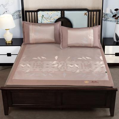 提花冰丝凉席经典款 1.5m(5英尺)床 24悦动-金色