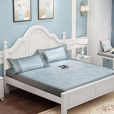 提花冰丝凉席经典款 1.5m(5英尺)床 10朵拉庄园-绿色