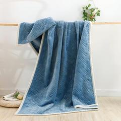 炫拼家纺双层法莱绒复合毯纯色珊瑚绒加厚毛毯空调毯冬季午睡毯子 90*150 cm(颜色随机) 水蓝色