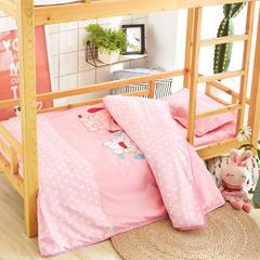 福豆家纺  全棉儿童幼儿园被子三件套 含芯六件套幼儿园午睡被子 均码 快乐萌宠-粉