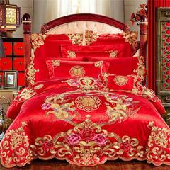 欧式婚庆多件套(一)龙凤至尊 双人枕 六件套(床盖式 )