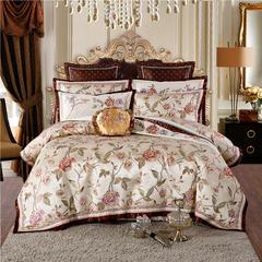 至爱今生 高精密色织婚庆大提花(七)香风丽影 加大2.0-2.2m床 八件套(床盖款)