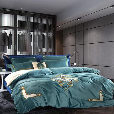 高档仿皮草冬季保暖法拉绒床上用品四件套 加厚床品套件 1.5m(5英尺)床 卡塞尔