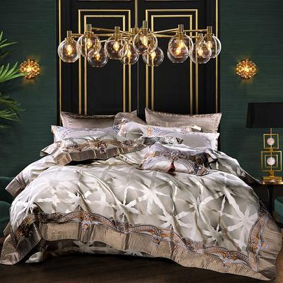 高精密锦缎-西西里之梦 床盖 九件套(床盖式)