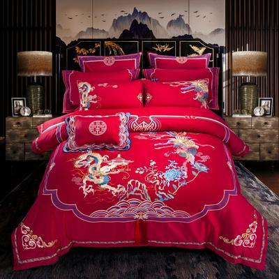婚庆多件套-囍寐 信封枕 十件套(床单式)
