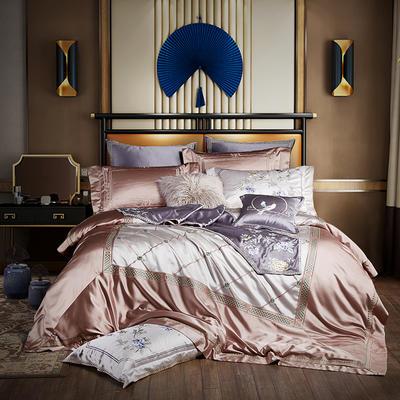 2020新款60S长绒棉多件套-爱比利斯 1.5-1.8m床单款四件套 爱比利斯—优雅粉