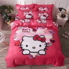 大版印花磨毛四件套-床单款 1.8m(6英尺)床 粉红kt