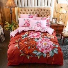 大版印花磨毛四件套-床单款 1.5m(5英尺)床 花开南国