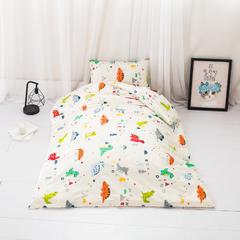 2018新款-60s133*72婴儿幼儿园儿童全棉三件套(可拆买) 单枕套30*50cm 恐龙