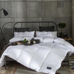 柔赛丝单边羽丝绒被芯-终版 150x200cm4斤 白色