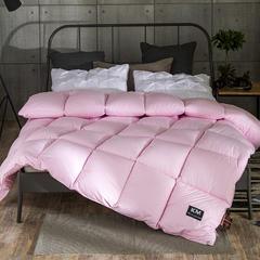 柔赛丝单边羽丝绒被芯-终版 220x240cm8斤 粉色