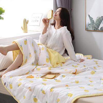 2019新款-水洗棉印花夏凉被 110x150cm 菠萝蜜