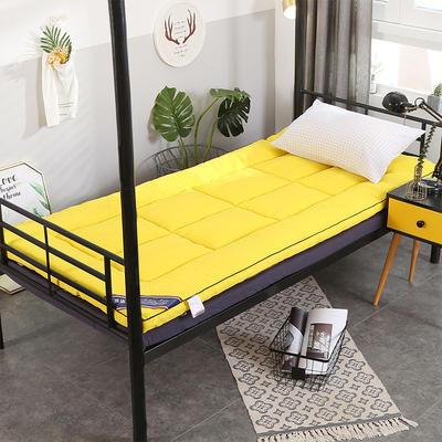 2019新款-立體加厚床墊 0.9*2.0 2杏黃色