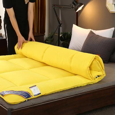 2019新款-加厚包边床垫 0.9*200 杏黄色