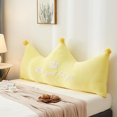 2020新款-繡花靠枕 60*40cm單獨外套 貴族黃色